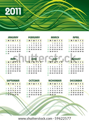 2011 Calendar. Abstract Background in eps10. - stock vector
