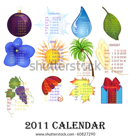2011 Calendar.10 eps - stock vector