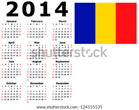 2014 Calendar Clip Art