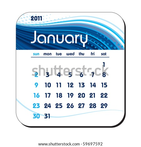 2011 Calendar. January. eps10. - stock vector
