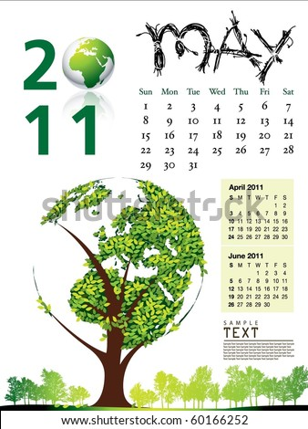 2011 Calendar May - stock vector