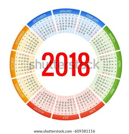 40.857 file thiết kế về bộ lịch 2018, những mẫu mã độc đáo dành cho riêng bạn