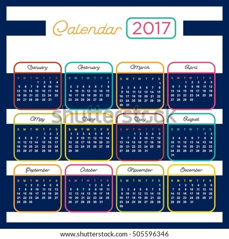 2017 Calendar template for your company