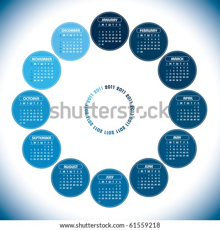 2011 Calendar. Vector. - stock vector