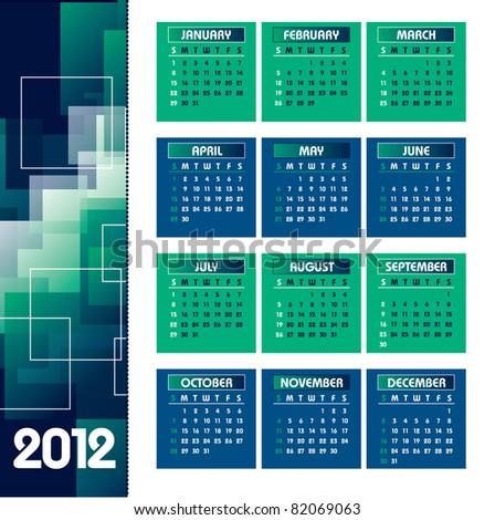 2012 Calendar. Vector Background. Eps10. - stock vector