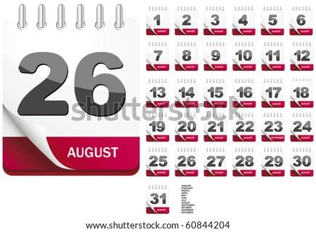 Calendar (whole year included) - stock vector