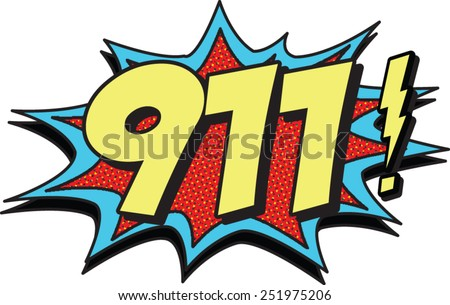 911 call - stock vector