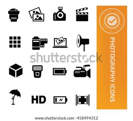 Camera icon,Photography icon set,vector - stock vector