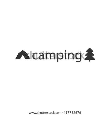 camp icon, camp postcard, camp vector, camp logo, camp logo,  - stock vector