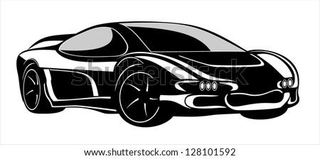 car for sports design. - stock vector