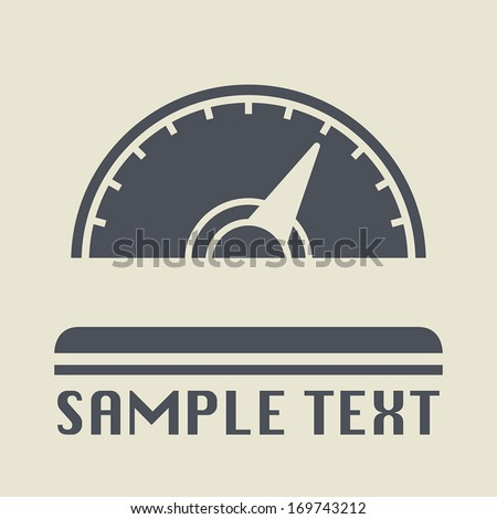 Car instruments icon or sign, vector illustration - stock vector