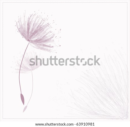 card design with stylized flower - stock vector