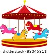 carousel - stock vector
