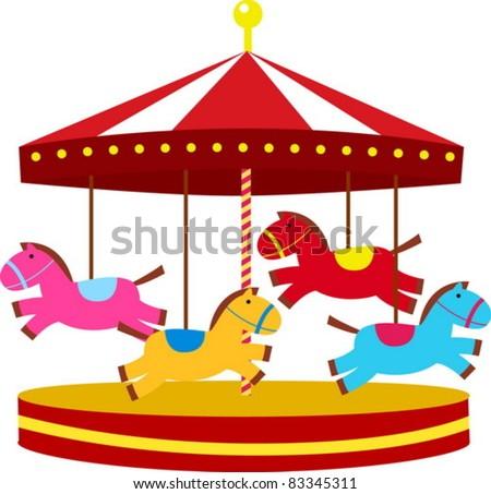 carousel - stock vector