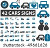 42 cars signs. vector - stock vector