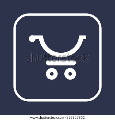 Cart   icon, isolated. Flat  design.