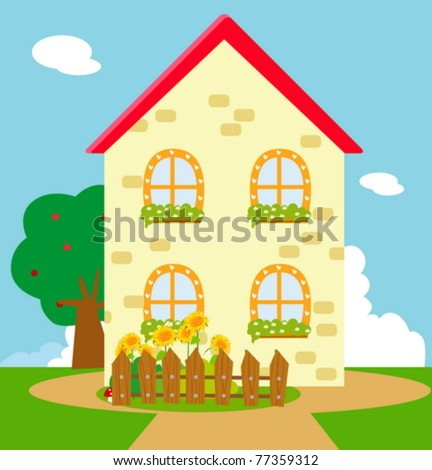 Cute House Cartoon Cartoon House