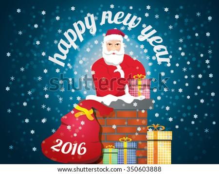 2016 celebration christmas santa chimney gifts