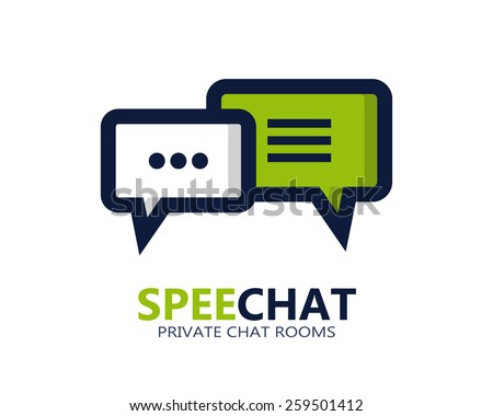 Chat vector symbol icon or logo  - stock vector