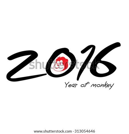 2016 chinese monkey year - stock vector