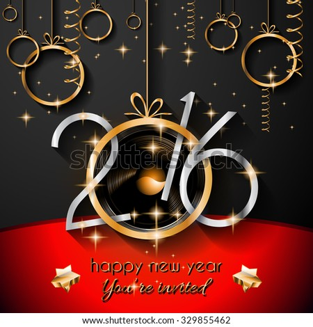 2016 christmas happy new year party stock vector 329855462 2016 christmas and happy new year party flyer complete layout with space for text for stopboris Gallery