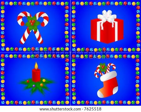 4 christmas design,vector - stock vector
