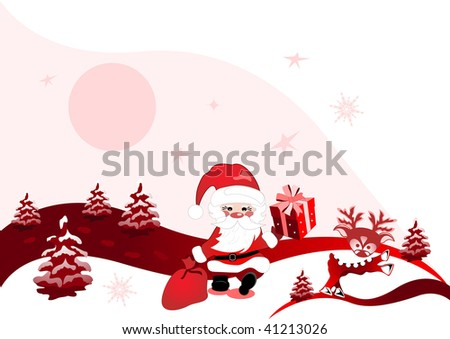christmas design with santa claus