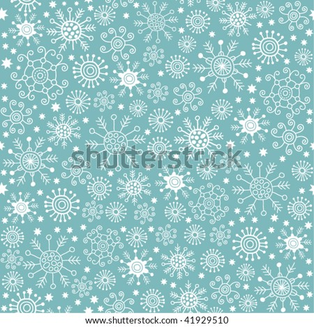 christmas pattern, snowflakes - stock vector