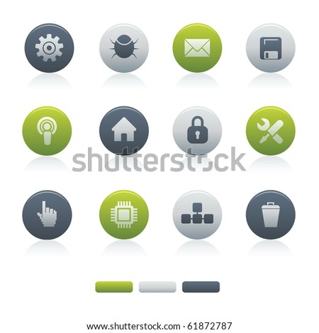 02Circle Mixed Computer Icons Professional vector set for your website, application, or presentation. The graphics can easily be edited colored individually and be scaled to any size - stock vector