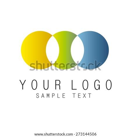 3 circle sign logo - stock vector
