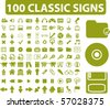100 classic signs. vector - stock vector