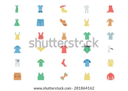 Clothes Colored 2  - stock vector