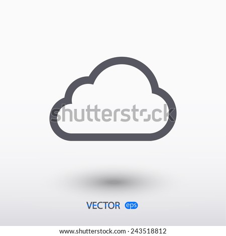 cloud icon, vector illustration. Flat design style - stock vector