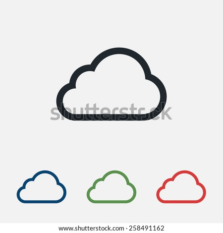 cloud icon, vector illustration. Flat design style