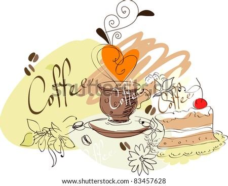 coffe cup - stock vector
