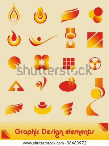 collection of graphic design elements - stock vector