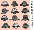 Collection of Premium Quality labels - stock vector