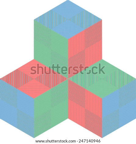 Colorful 3d Cubes for your Logo Design . Vector Illustration .  - stock vector