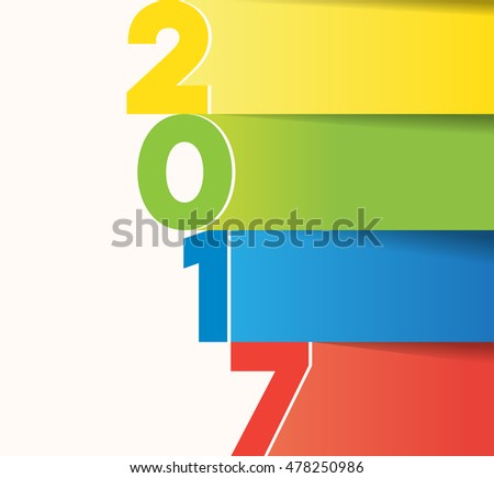 2017 colorful theme, card template, illustration. - editable vector