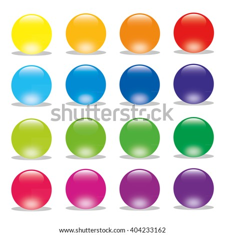 16 colorful Vector Button
