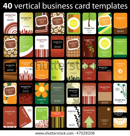 40 Colorful Vertical Business Cards