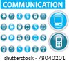 20 communication buttons, icons, signs, vector illustrations - stock vector
