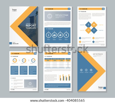 Company Profile Annual Report Brochure Fl Stock Vector