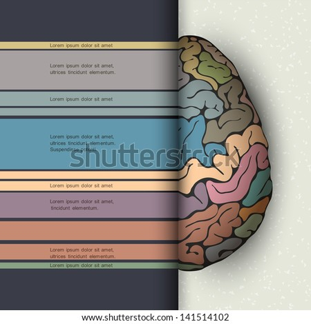 Concept of human brain. Futuristic vector illustration - stock vector