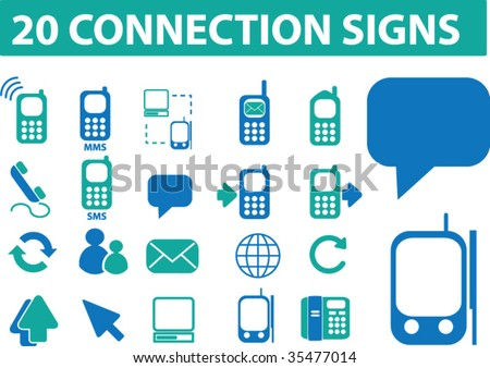 20 connection signs. vector