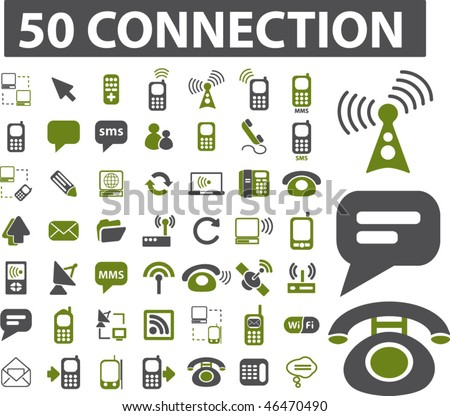 50 connection signs. vector - stock vector