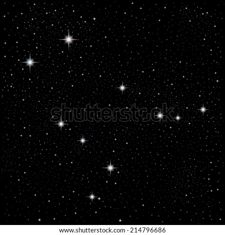 Constellation Gemini  - stock vector
