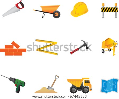21 Construction Icons Set Professional vector set for your website, application, or presentation. The graphics can easily be edited colored individually and be scaled to any size - stock vector
