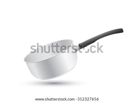 cooking pot isolated on white background - stock vector