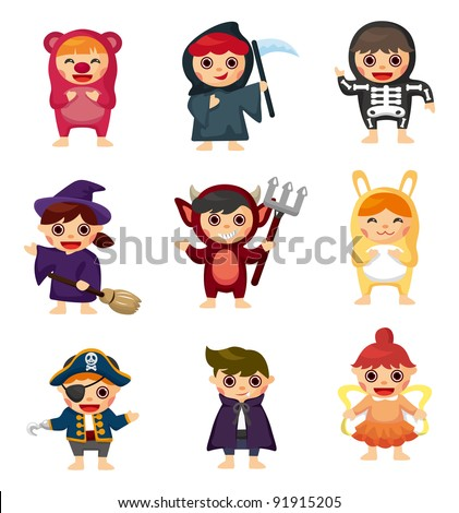 costume party - stock vector